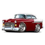 1955 Chevy Belair Maroon Car