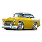 1955 Chevy Belair Yellow Car