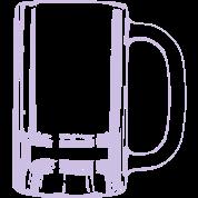 Clear Beer Mug, Drinking Alcohol Beverage