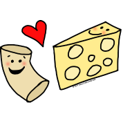 Macaroni Heart Cheese Cute Mac and Cheese Cartoon