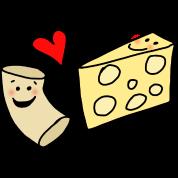 Macaroni Heart Cheese Cute Mac and Cheese Cartoon