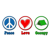 Peace Love Occupy Protest