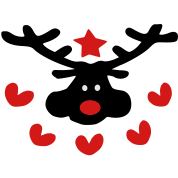 christmas reindeer hearts star pattern vector art