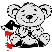 Bear with a bloody ax