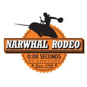 Narwhal Rodeo Awesome (orange)