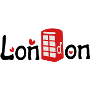 London txt red telephone booth vector art