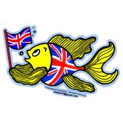 British Fish with a Union Jack Flag, By FabSpark