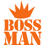 BOSS MAN with crown