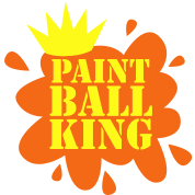 PAINT BALL KING with crown and paint spots