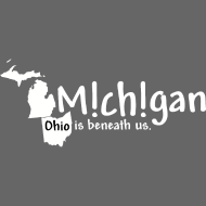 Design ~ Michigan: Ohio is beneath us.