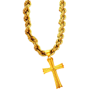 Gold Bling Huge Cross