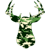 BUCK IN GREEN CAMO - VECTOR GRAPHIC