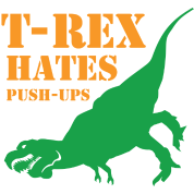 T-Rex Hates Push-Ups T shirt