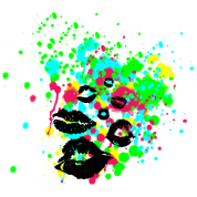 Graffiti Lip Kiss Paint Splatter - graphic design perfect for hoodies, tshirts, tank tops and more clothing and accessory!