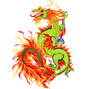 Flaming Dragon-Chinese Year Of The Dragon
