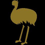 long legged emu bird