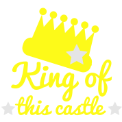 king of this castle with crown and stars
