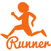 RUNNER shape person running