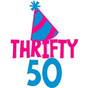 BIRTHDAY 50 thrifty FIFTY