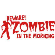 BEWARE ZOMBIE in the morning humor shirt