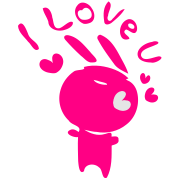 I love you txt & Pink Bunny