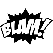 Blam comic book sound effect