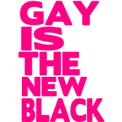 GAY IS THE NEW BLACK