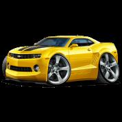 2010-12 Chevy Camaro Yellow-Black Car
