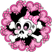 Cute Skull and Hearts