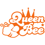 Queen bee ornate with cute little insect and a princess crown