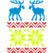 Moose Pattern Christmas Sweater