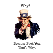 Uncle Sam says FU.