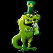 Saint Patrick's Day Tyrannosaurus Rex