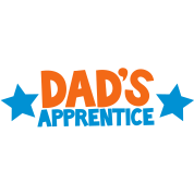 dad's apprentice with cute little stars working with daddy
