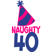 naughty 40 forty with birthday cute top hat