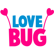 love bug cute with heart shaped antennae