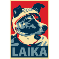 Design ~ Laika: Obama Poster Parody