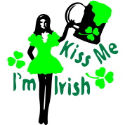 Kiss Me I'm Irish  girl green beer st.patrick's da