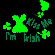 Kiss Me I'm Irish girl green beer st.patrick's da