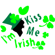 Kiss me I'm Irish boy shamrock