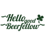 hello good beerfellow St Patricks day design with a shamrock