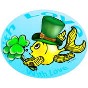 St Patricks Fish with Love, Goldfish , Fabspark ,