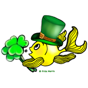 St Patricks Fish, Goldfish , Fabspark , holding S