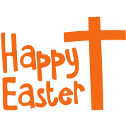 Happy EASTER with a Christian cross