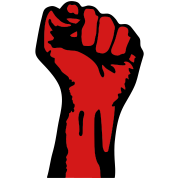 2 color - powerful class war revolution fist iron