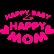 happy baby happy mom with love hearts