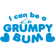 I can be a grumpy bum baby with a safety pin design