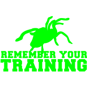 REMEMBER your training with a tarantula spider