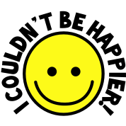 I couldn't be HAPPIER! with yellow smiley