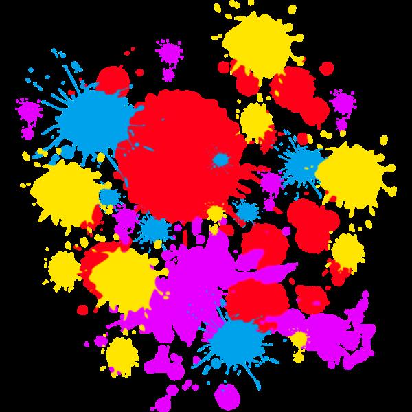 Color Design Art : Blue paint splatter coloring pages